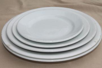antique & vintage ironstone china plates, mixed lot English potteries circa 1900