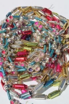 antique vintage mercury glass Christmas tree garlands, bead swags & tiny window balls