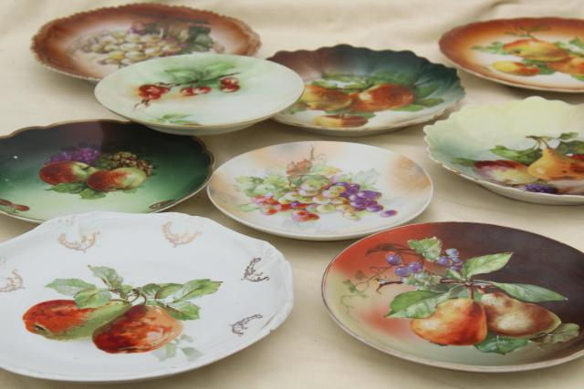 Antique Vintage Mismatched China Plates Fruit Amp Cheese