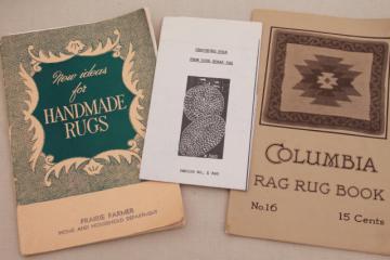 antique & vintage needlework booklets, rag rug making hooked & crochet rugs