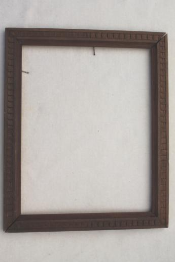 antique & vintage picture frame lot, empty wood frames w/ lovely old ...