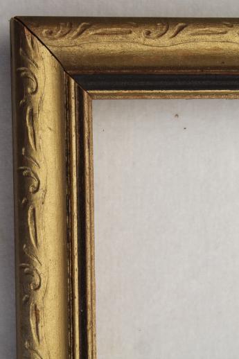 Antique Vintage Picture Frame Lot Empty Wood Frames W Lovely Old