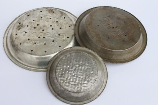 Antique Amp Vintage Pie Tins Old Metal Pie Pans For Large