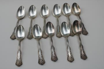 Tablespoons Lot of 3 Assorted Ornate Patterns Silverplate Serving Spoons