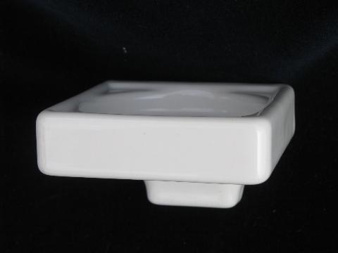 Commat For Bathroom : antique white ironstone bathroom glass holder, art deco wall mount ...