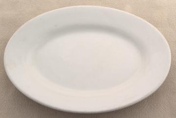 antique white ironstone china butter plate, oval tray, tiny platter or soap dish