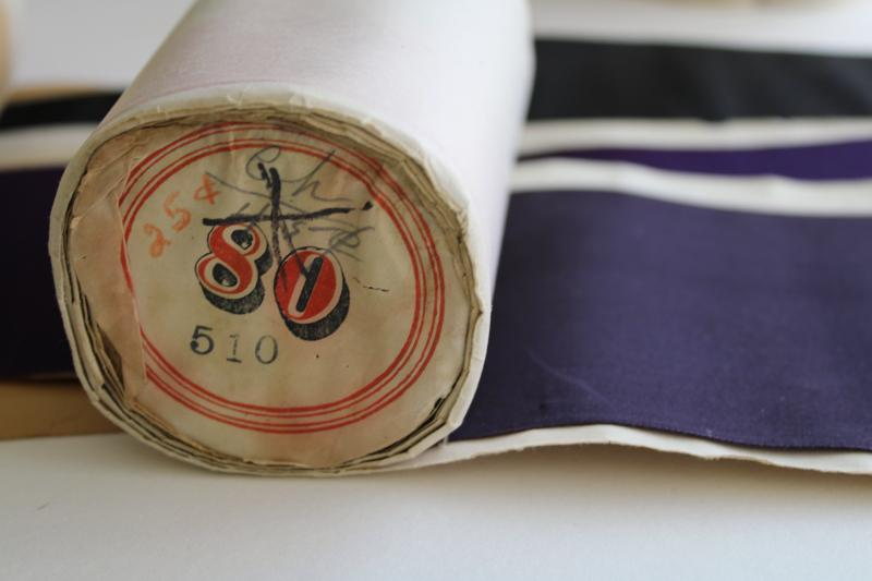 antique wide silk ribbon for display, rolls of millinery trim in original paper