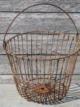 Vintage Storage Baskets Antique Egg Baskets Industrial Locker
