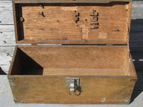 wooden tool chests