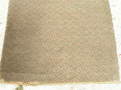 antique wool stair runner rug Arts & Crafts vintage