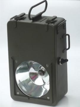 army green portable light, big flashlight battery floodlight for camping