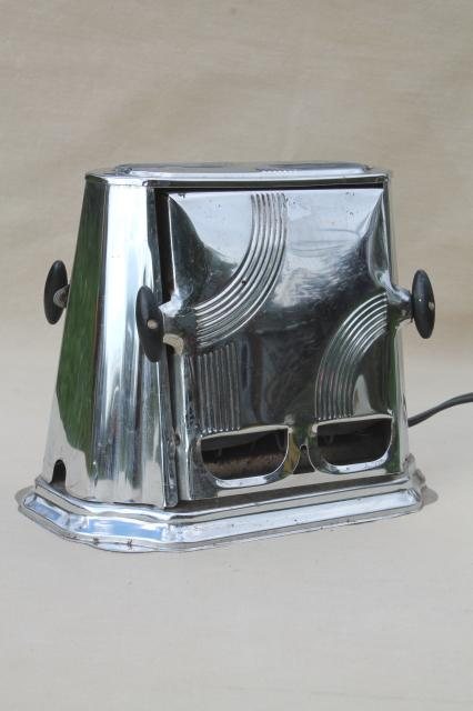Antique Electric Toasters ~ Art deco vintage son chief electric toaster working retro