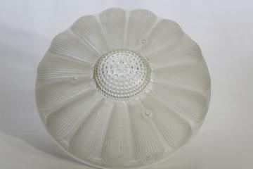 art deco vintage hobnail flower shape frosted glass shade, 3 hole hanging light shade