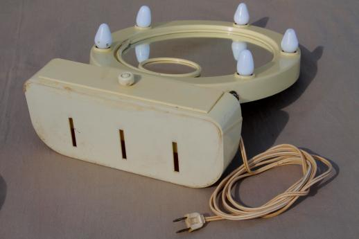 art deco vintage lighted vanity mirror french ivory celluloid stand w mirro. Black Bedroom Furniture Sets. Home Design Ideas