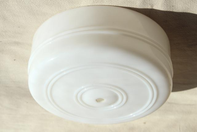 Art Deco Vintage Opaline Milk Glass Shade For Ceiling