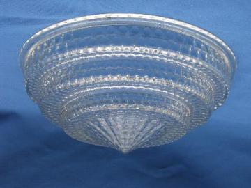 art deco vintage prismatic glass lamp shade for antique electric light
