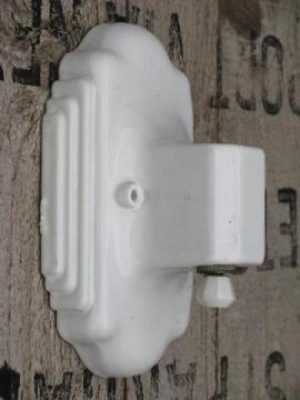 art deco vintage white ironstone china sconce light, wall mount lamp