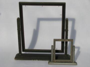 art nouveau vintage wood desk / vanity picture frames