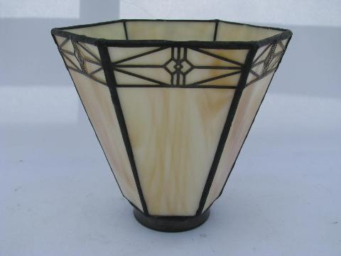 crafts mission style replacement lamp shade leaded glass light arts crafts mission style replacement lamp shade leaded glass light mozeypictures Image collections