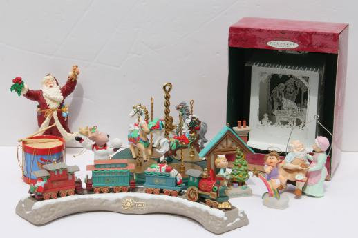assorted vintage hallmark christmas ornaments, collectible holiday