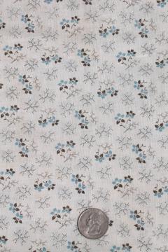 authentic antique vintage fabric, primitive cotton calico print for shirting, aprons etc.