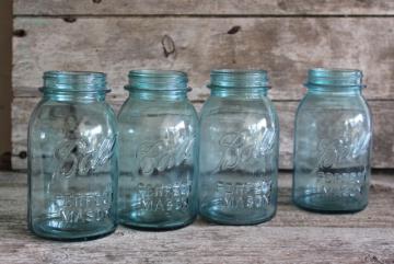 Antique Blue Glass Canning Jars Old Mason Jars