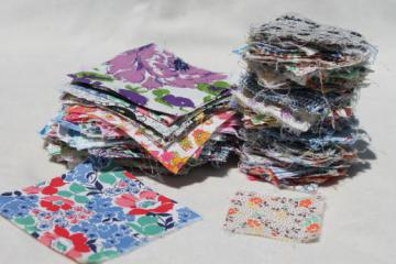 authentic vintage fabric prints charm square quilt block pieces for patchwork quilts