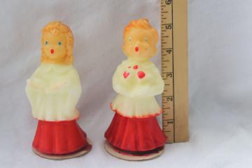 big vintage Gurley candles holiday figural Christmas carolers choir boy & girl