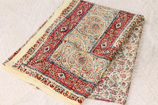 Bohemian Hippie Style Indian Block Print Cotton Fabric
