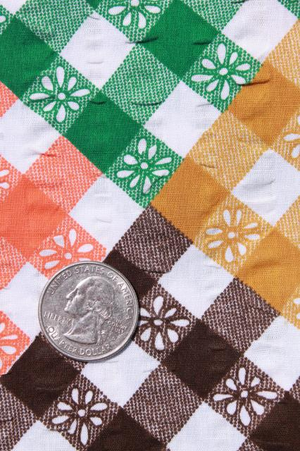boho patchwork print plisse crinkle texture cotton, breezy summer weight vintage fabric