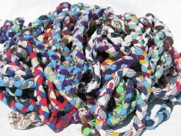 Braided Fabric Strips Rag Ball Yardage For Handmade Braid Rug