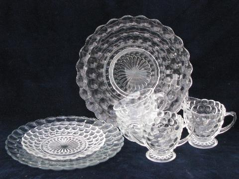 vintage frosted and clear platter