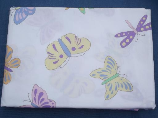 butterflies print cotton, never used duvet covers, flat sheet for fabric