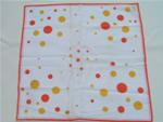 Vintage 50's print hanky, mod dots, original label
