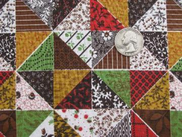 cheater patchwork quilt print cotton quilting fabric, vintage 36'' w