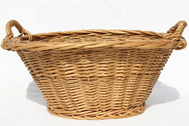 Child S Size Vintage Wicker Laundry Basket For Wash Day Washing Doll Clothes