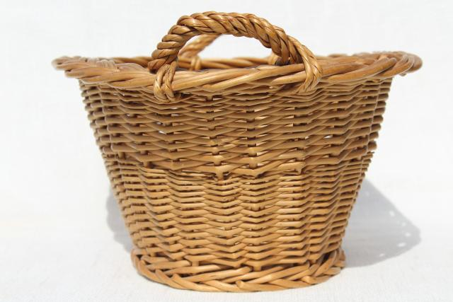 childs size vintage wicker laundry basket for wash day washing doll clothes - Wicker Laundry Basket