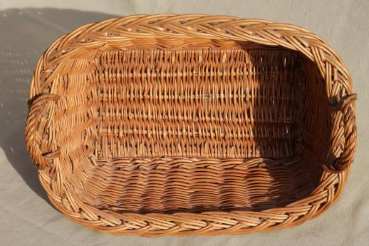 child's size vintage wicker laundry basket for wash day, washing doll clothes