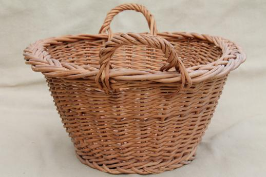 Child S Size Vintage Wicker Laundry Baskets For Washing Doll Clothes On Wash Day