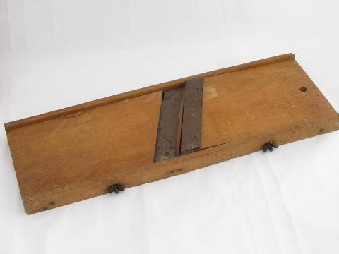 church kitchen lot vintage slaw boards or mandolin french slicers, for potatoes etc.