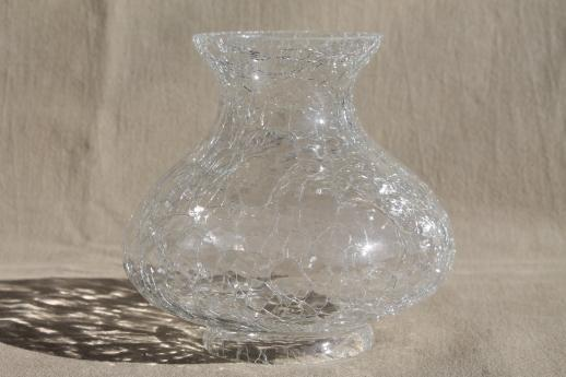 crackle glass vase lamp