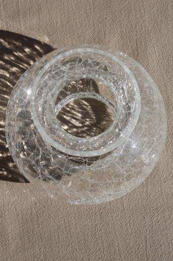 Clear Crackle Glass Lamp Shade New Old Stock Vintage