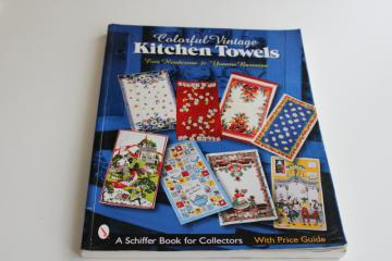 collecting kitchen linens, vintage identification guide color photos out of print reference book