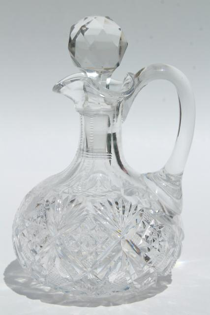 Collection Of Antique Cruet Bottles Pressed Glass