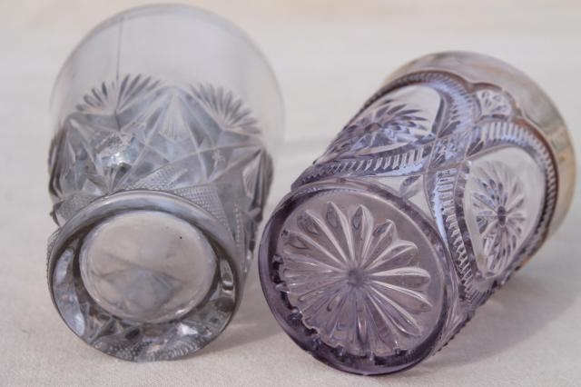 Collection Of Antique Amp Vintage Pressed Pattern Glass Tumblers Cut Glass Patterns