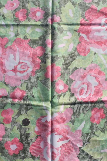 collection of flowered prints 70s vintage fabric lot silky polyester pretty florals