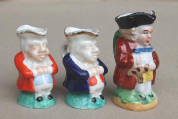 collection of miniature Toby mugs, England and Occupied Japan china