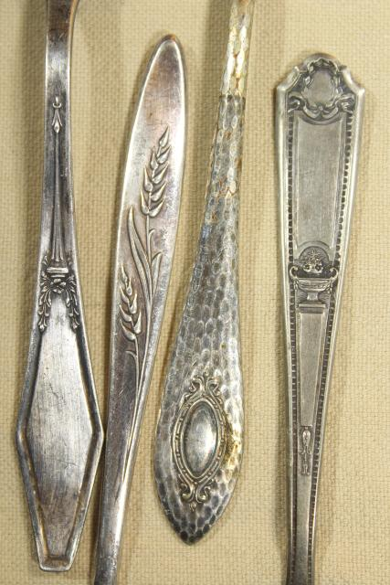 collection of silverplate sugar shovels, jam & preserves spoons, vintage silverware lot