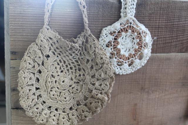 collection of tiny antique lace purses, Edwardian vintage hand bags tea dress style