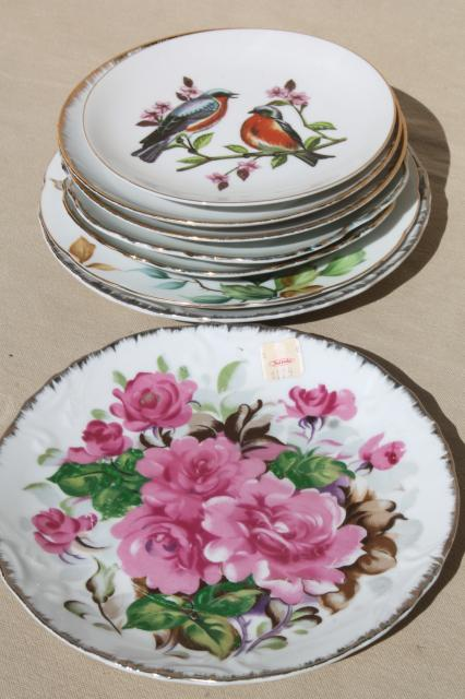 Collection Of Vintage Painted China Plates W Fruit
